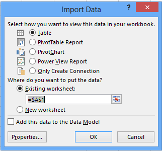 Excel – Using a Custom MDX Query in Excel Table - Reporting