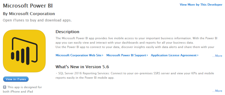 Ssrs power bi business analytics solutions power bi ios power bi app for ssrs fandeluxe Gallery