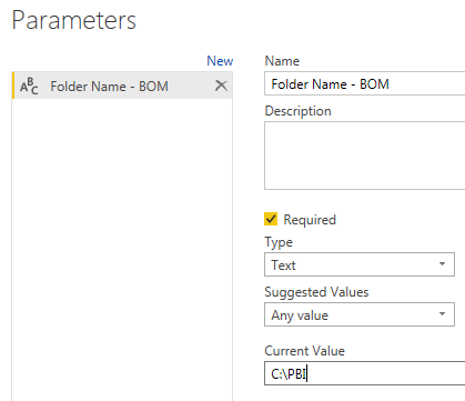 Power BI – Using Parameters for Flat File / CSV / Excel Sources